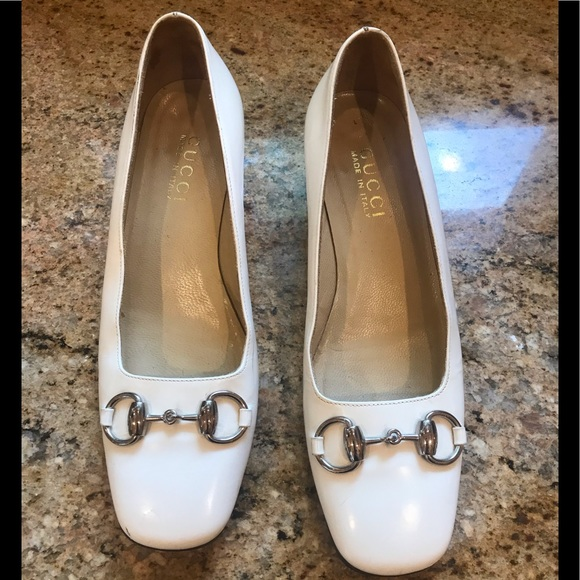 761c3f290 Gucci Shoes | Womens White Pumps With Bit | Poshmark